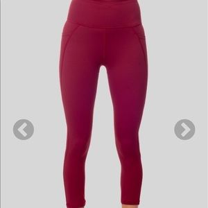 Galam Burgundy Capri leggings